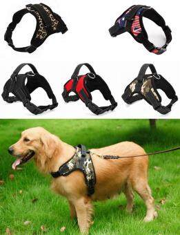 Harga Big Dog Soft Harness Adjustable Pet Dog Big Exit Harness VestCollar Strap for Small and Large Dogs Pitbulls - Black(L)