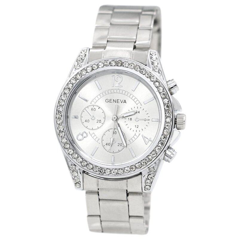Bluelans® Womens Silver Stainless Steel Band Watch (MY) Malaysia