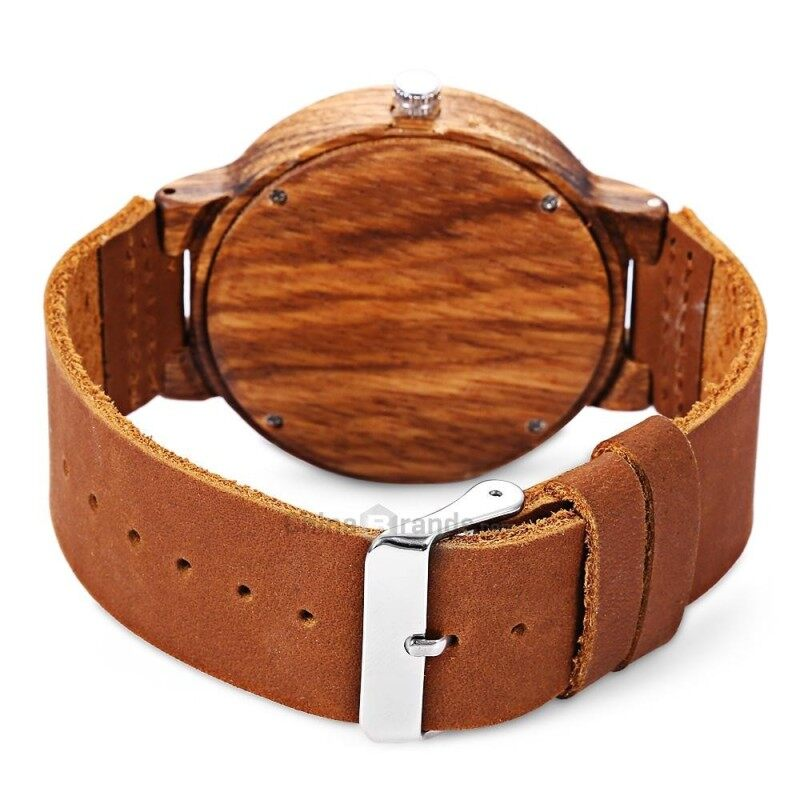 BOBO BIRD C19 Unisex Wooden Quartz Watch Concise Style Genuine Leather Band Japan Movt Wristwatch Malaysia