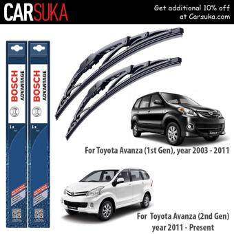"BOSCH Advantage Wiper Blade (set) for Toyota Avanza (1st and 2nd Generation) 20""/16\"" (100% Genuine Bosch Malaysia)"