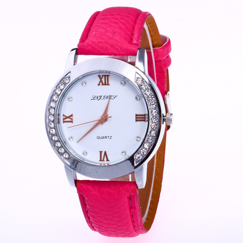 Bounabay Brand Fashion mechanical steel litchi pattern movement fine female color watches Malaysia