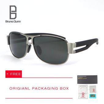 Harga Bruno Dunn fashion summer luxury Brand deisgner men SunglassesPolarized Lens Vintage Eyewear Accessories Sun Glasses For male8459(gun frame gray lense