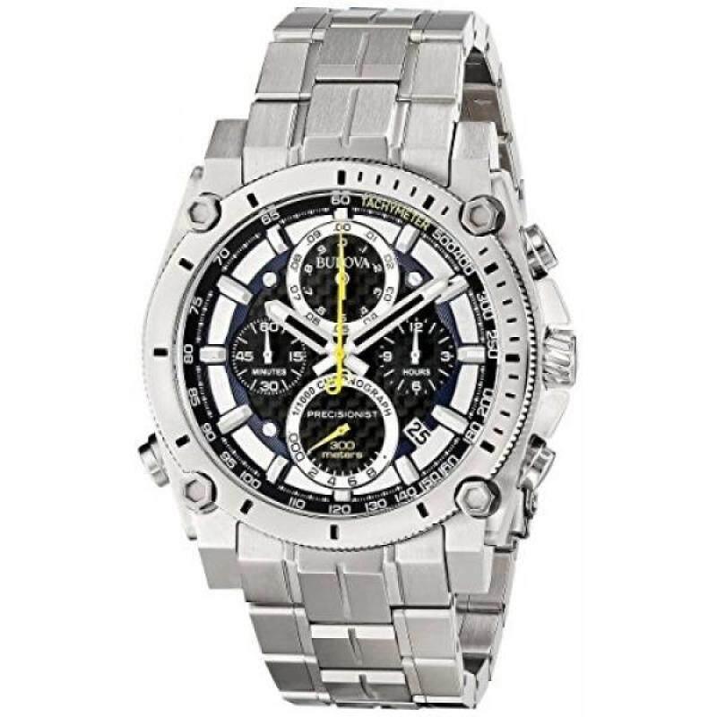 Bulova 96G175 Mens Precisionist Silver Steel Bracelet Chronograph Watch Malaysia