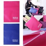 Bundle Set: Travel Star Non Woven Fabric Shoe Bag With Zipper Rose Red x 1