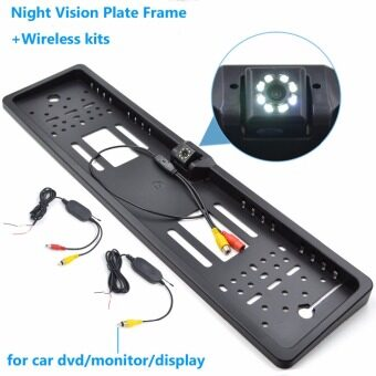Car Rearview Camera Night Vision Number Plate EU License Frame Reverse Camera for Car Monitor