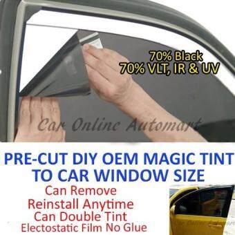 Car Window Magic Tint OEM Tinted Glass Solar Film - 70% Black