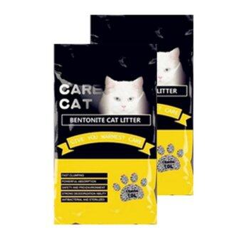 Care Cat Bentonite Cat Litter 10L Lemon x 2