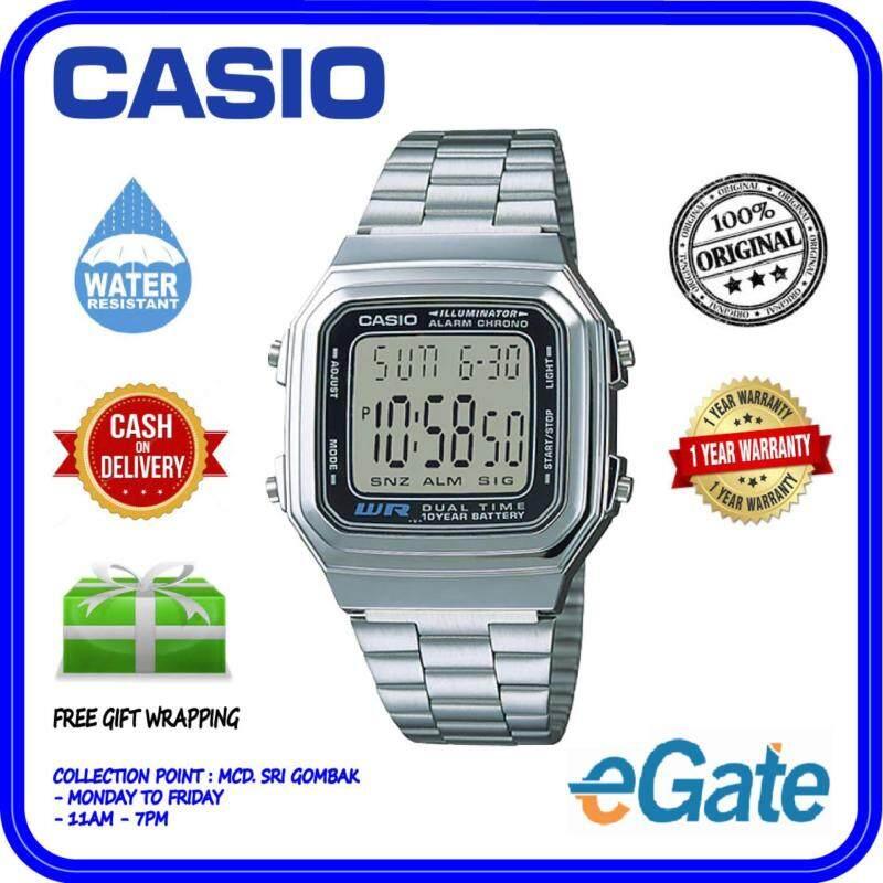 Casio A178WA-1A Unisex Digital Vintage Series Stainless Steel Original Watch Malaysia