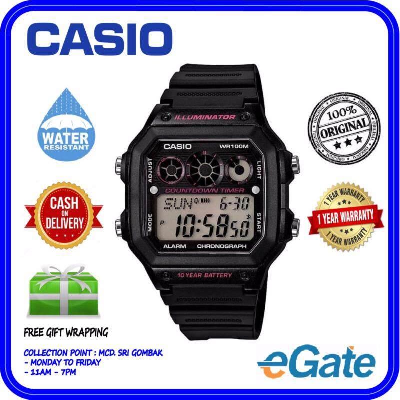 Casio AE-1300WH-1A2V Mens Digital Black Strap Original Watch Malaysia