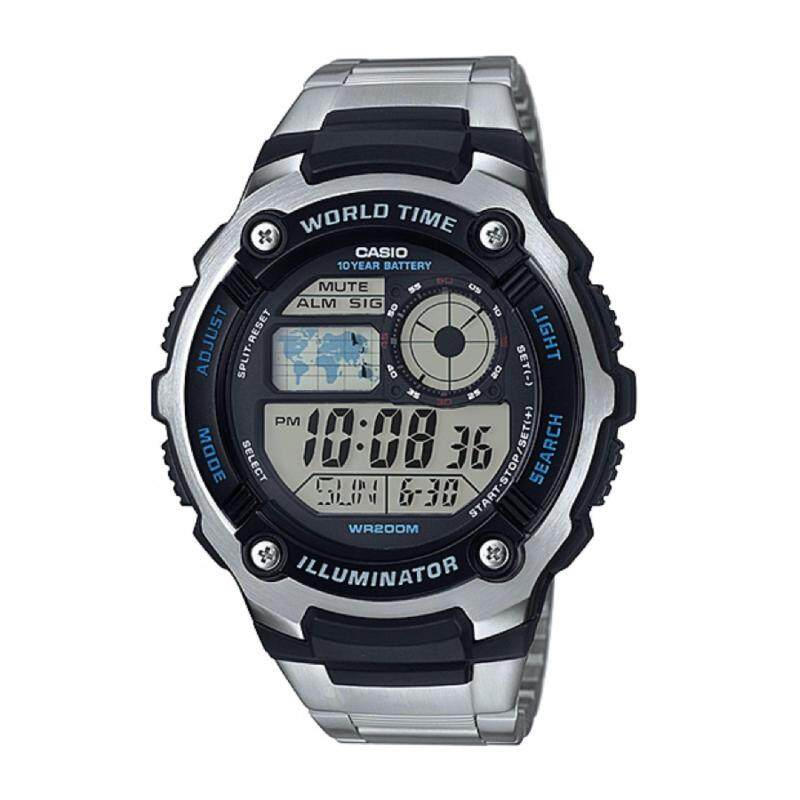 Casio AE-2100WD-1AVDF Mens Digital Steel Watch AE-2100WD-1AV Malaysia