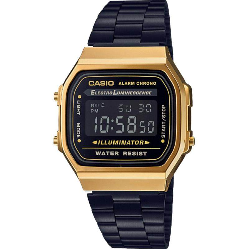 CASIO Classic A168WEGB-1BEF (GOLD / BLACK) Wrist Watch Malaysia