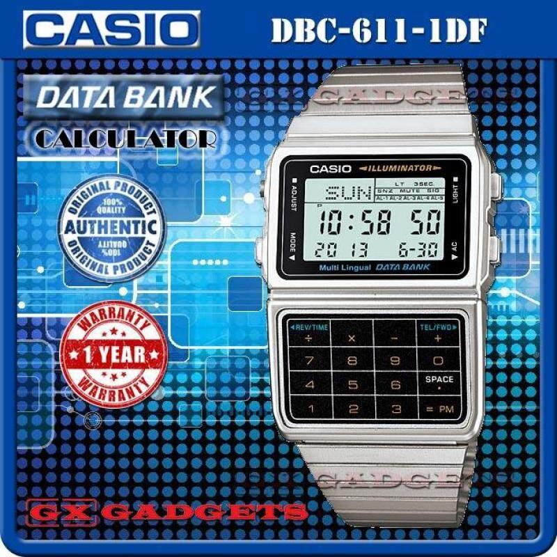 CASIO DBC-611-1 DATA BANK STANDARD DIGITAL CALCULATOR WATCH Malaysia