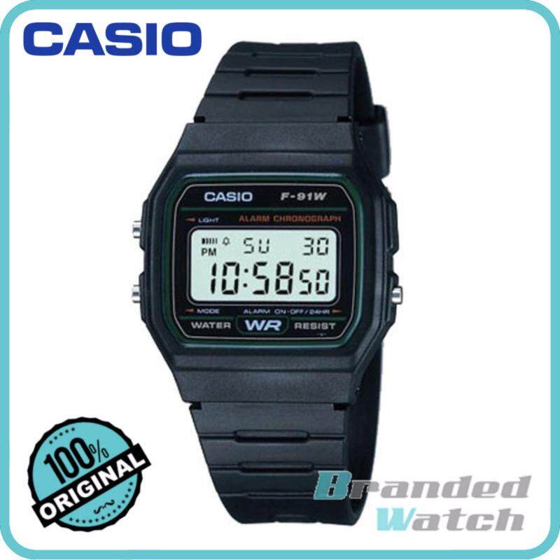 Casio F-91W-3SDG Mens Vintage Series Digital Resin Watch F-91W-3S Malaysia
