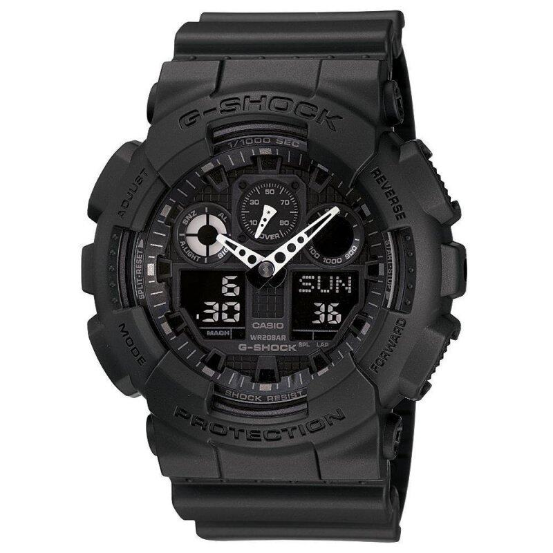 Casio G-Shock GA-100-1A1 Black and Gold Mens Watch Malaysia