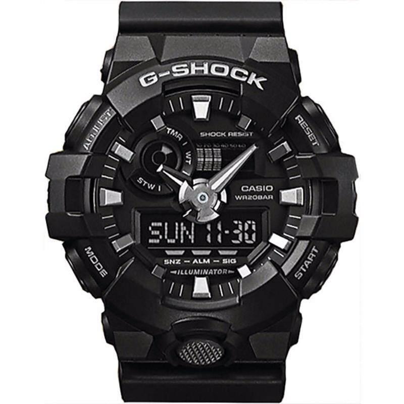 Casio G-Shock GA-700 Black Resin Band Watch GA700-1B GA-700-1B Malaysia