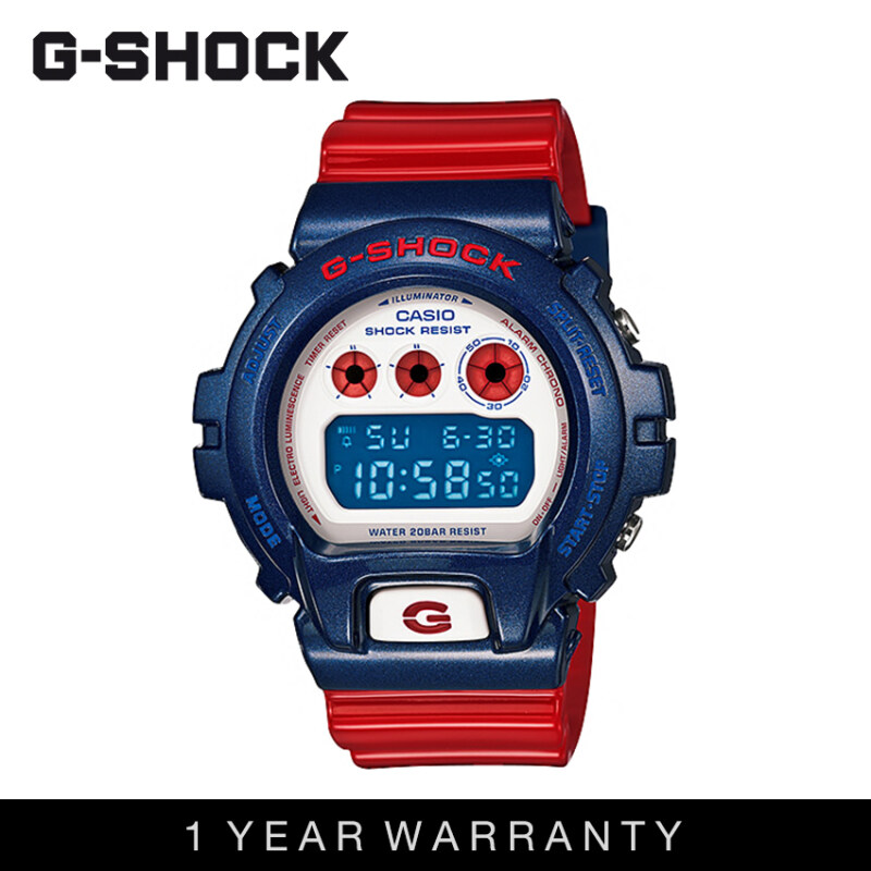 Casio G-Shock Men DW-6900AC-2DR Red Blue Sports Resin Watch Malaysia