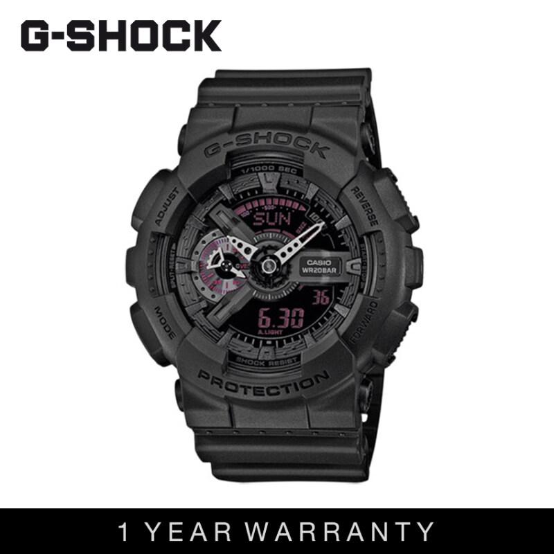 Casio G-Shock Men GA-110MB-1ADR Matte Black Sports Resin Watch Malaysia