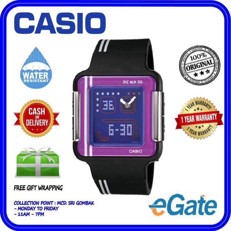 Casio LCF-21-1DR Unisex Kids Poptone Analog Digital Black Strap Original Watch Malaysia