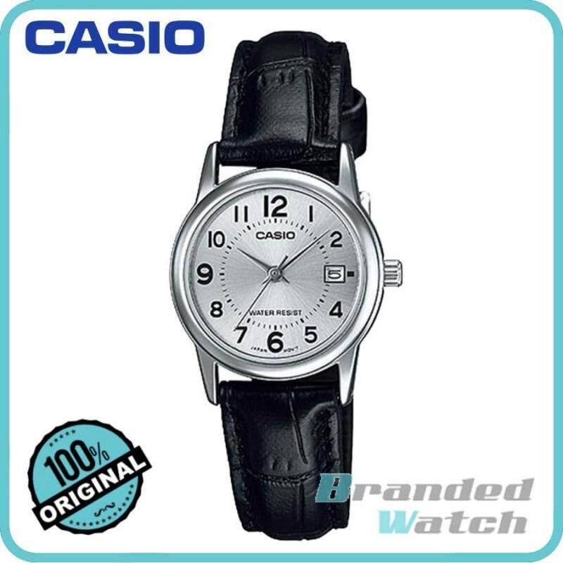 Casio LTP-V002L-7BUDF Womens Analog Date Leather Watch LTP-V002L-7B Malaysia