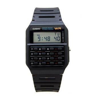 Casio Men Digital Calculator Black Dial Rubber Strap Watch CA-53W-1Z