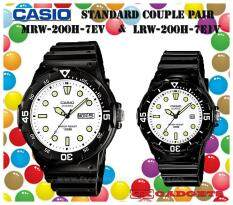 Casio Mrw-200H-7Ev + Lrw-200H-7E1V Couple Pair Watch Date - Black Malaysia