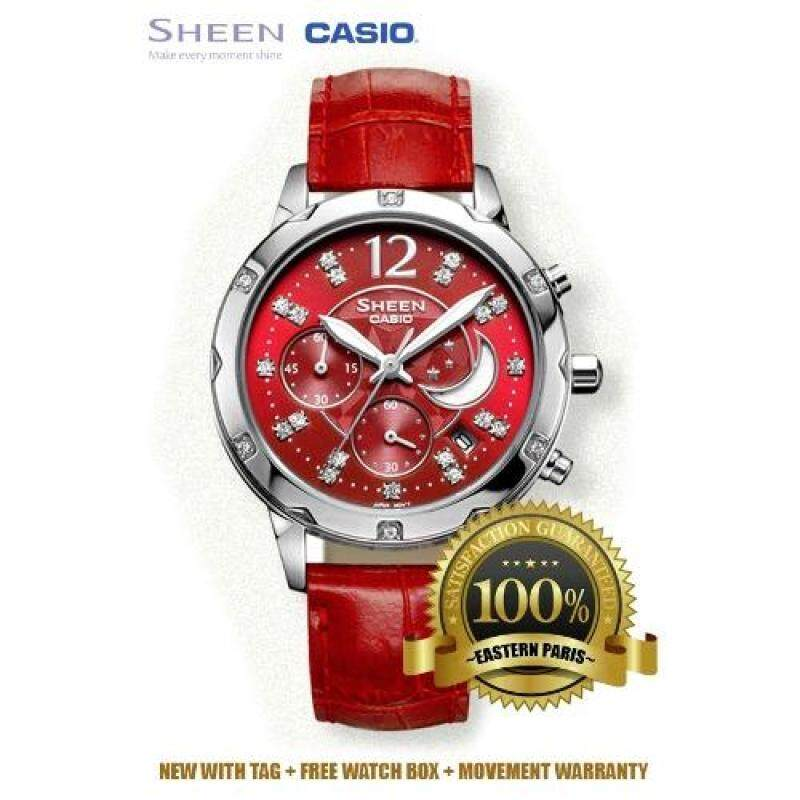 Casio Sheen SHN-5017L-4A Red (IMPORTED) Malaysia
