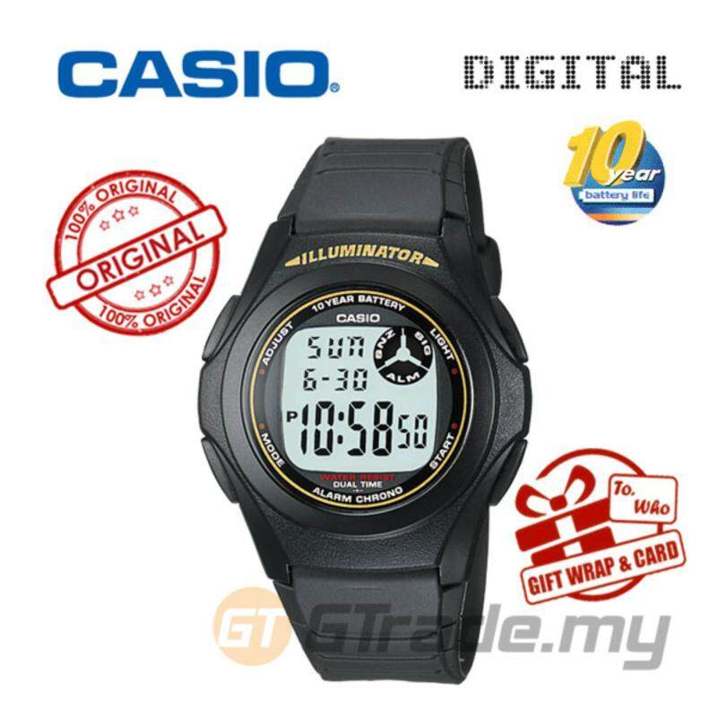 CASIO STANDARD F-200W-9A Digital Watch - Classic Simple Young Design Malaysia
