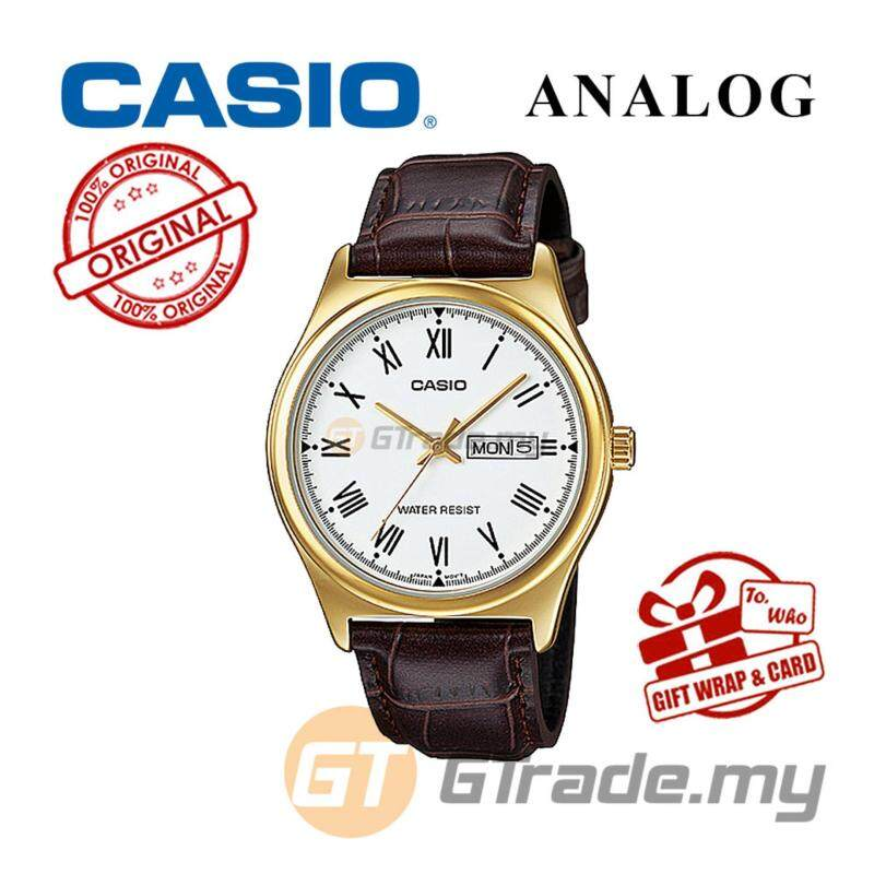 CASIO STANDARD MTP-V006GL-7BV Analog Mens Watch - Gold Case Leather Malaysia