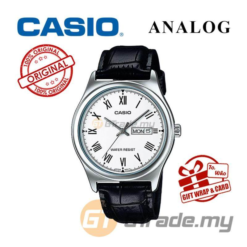 CASIO STANDARD MTP-V006L-7BV Analog Mens Watch - Leather Day Date Malaysia