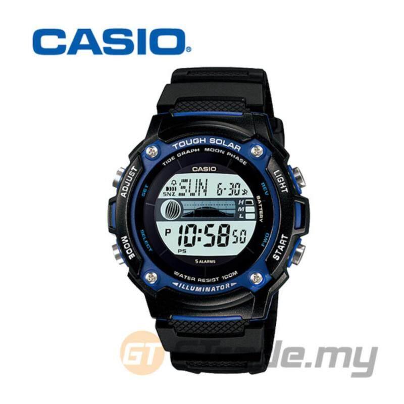 CASIO STANDARD W-S210H-1AV Digital Watch - Tide Graph Moon Phase Malaysia