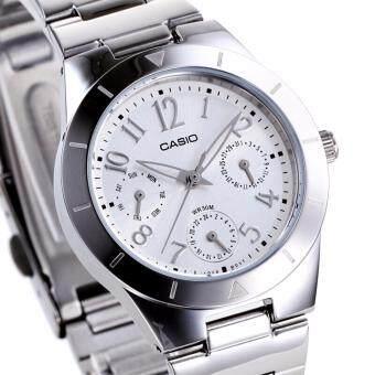 Casio Women's Analog Stainless Steel Watch Ladies Fashion Quartz Steel Sports Watch (Silver ) LTP-2069D