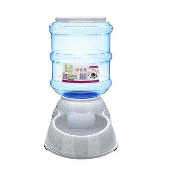 Harga Cats and Dogs Pets Accessories Large Automatic Pet Feeder DrinkingFountain Bowl 3.5L - Light Blue