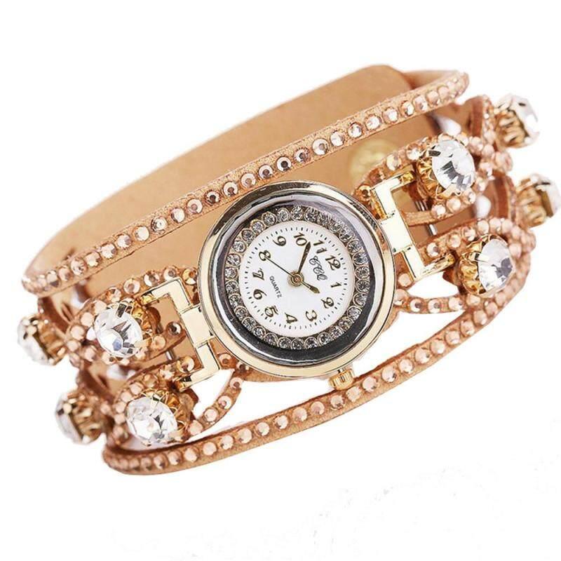 CCQ Luxury Brand Vintage Leather Bracelet Watch Women Wristwatch Ladies Dress Quartz Watch Malaysia