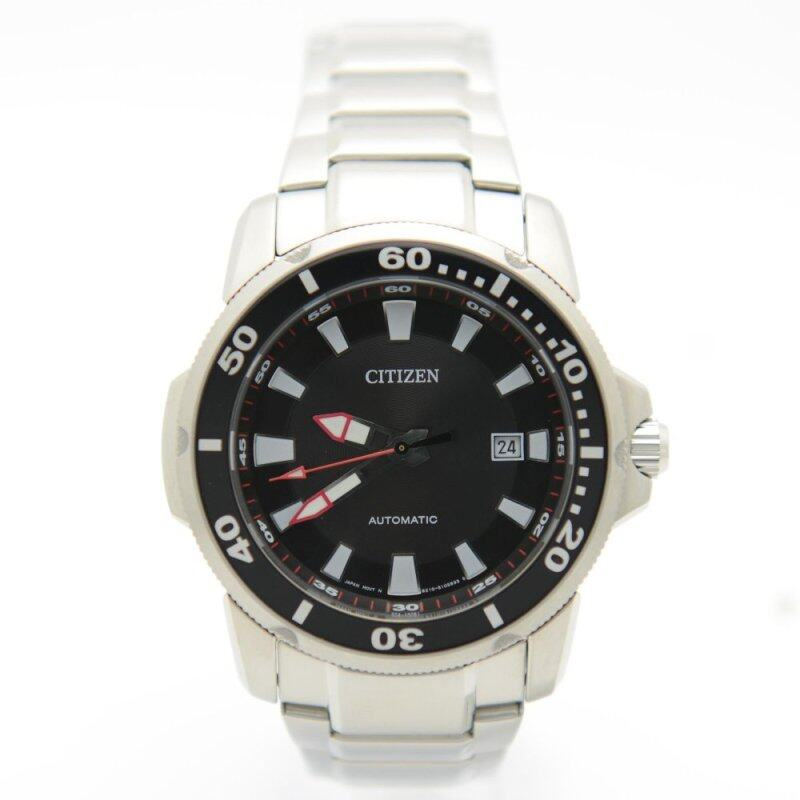Citizen Automatic NJ0010-55E Stainless Steel Analog Black Dial Mens Watch Malaysia