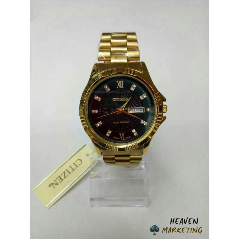 Citizen Watch For Men Black & Gold Malaysia