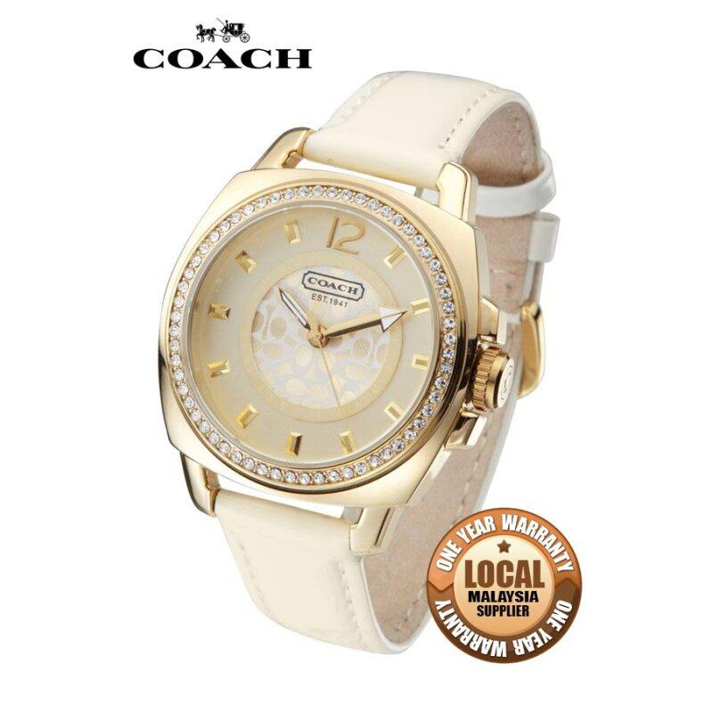 Coach Womens Luxury Rhinestone Leather Strap Watch 14501364 Malaysia