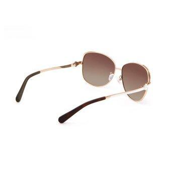 COASTAL VISION Polarized Women Gold sunglasses Oversize anti UVA/B lenses CVS5106 - 4