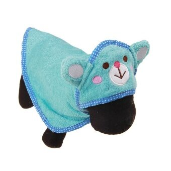 Harga Cocotina bathroom towel pet drying towel pets required with hooded dressing gowns super soft absorbent pet supplies blue M