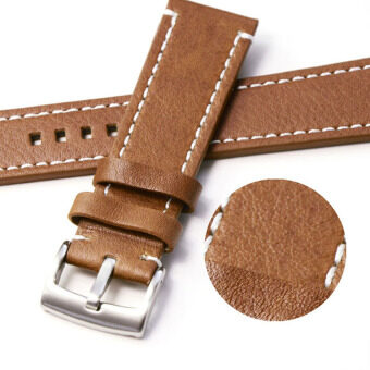 Harga Cocotina Genuine Leather Vintage Wrist Let Watch Band StrapYellowish Brown Width 22mm