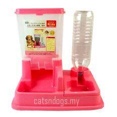 catsndogs my combo pet feeder and drinker pink