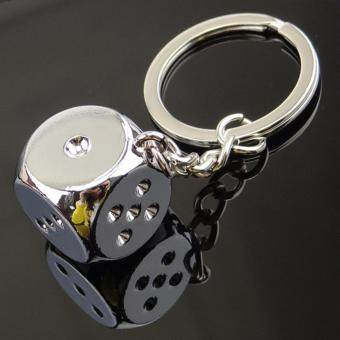 Creative Funny Toy Dice Betting Game Keychain Keyring Bag Car Pendant Fashion Gift