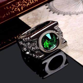 Harga Crystal Green Lantern Ring Party Ring For Men Jewelry