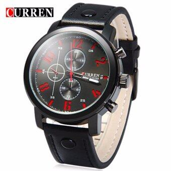 Harga Curren 8192 Luxury Casual Men Watches Sports Watch (Black Red)