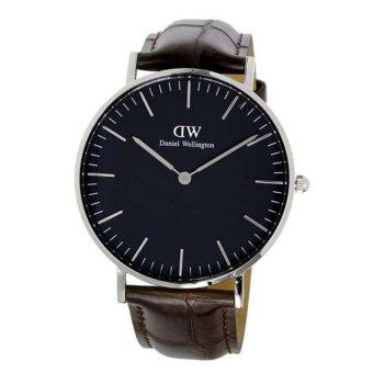 Daniel Wellington Women Classic Black York Silver 36mm Watch