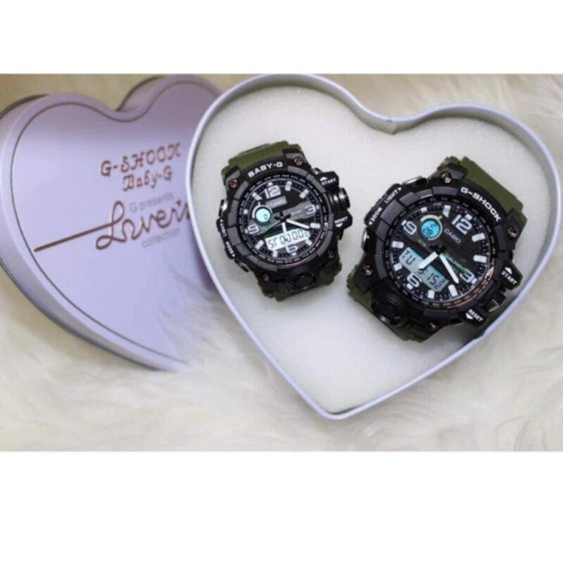 Dark Green Couple Watch (G Shock_) Malaysia