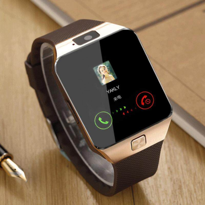 DHL 1pcs/lot DZ09 smart watch for Apple android phone support SIM/TF card MP3 smartwatch with camera Anti-lost pk gt08 A1(ZB7M24042-Gold) Malaysia