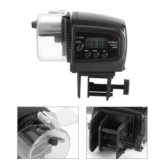 Digital LCD Electronic Fish Feeder Dispenser Timer AutomaticAquarium Tank Food Feeding Machine