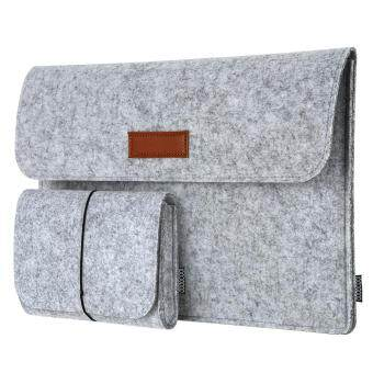 "Harga dodocool 13.3-Inch Felt Sleeve Cover Carrying Case Protective Bag 4 Compartments with Mouse Pouch for Apple 13"" MacBook Air / 13"" MacBook Pro / 13"" MacBook Pro with Retina display and Most Popular 13-13.3 Inch Laptop and More Gray"