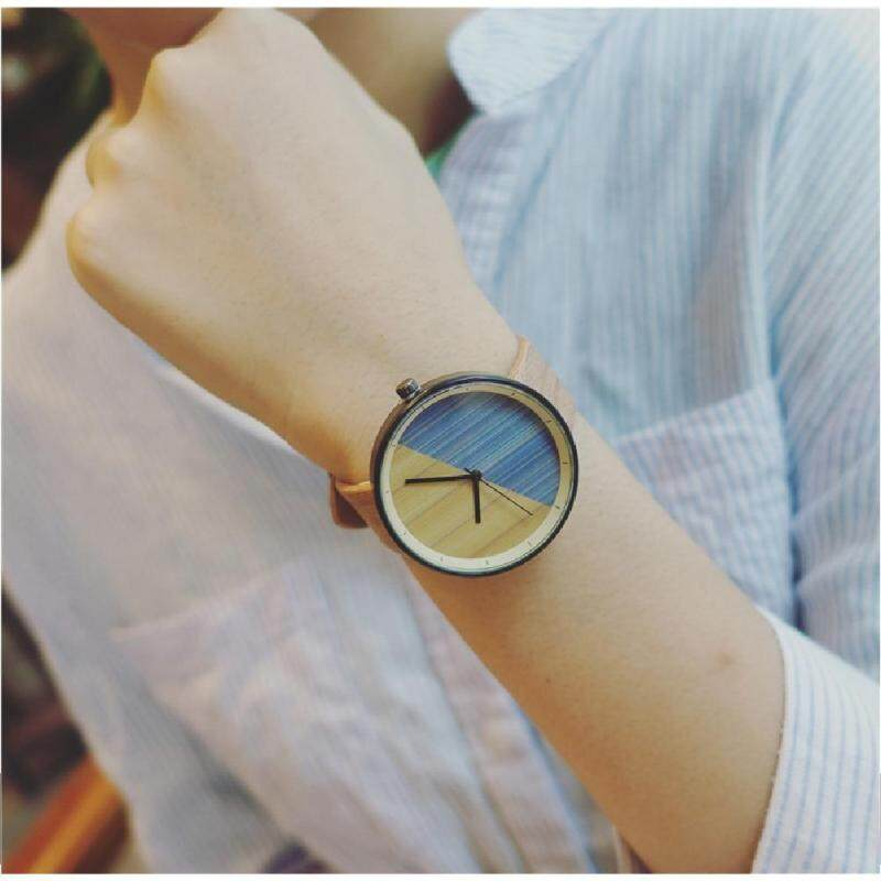 EARTH Love Nature Wooden Professional Simple Watch for Men Women Unisex Quartz Watches Valentine Day Present Gift Malaysia