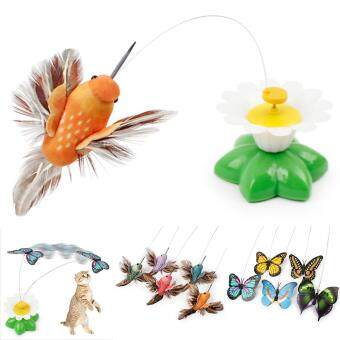 Harga Elife Funny Electric Bird Flying Around The Flower Pet Cat Toys CatTeasing Toy